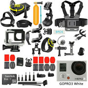 Gopro Hero 3 White Edition Camera Camcorder + 40 Pcs Accessory +waterproof Case