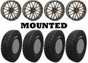 Kit 4 Tensor Dsr35 Tires 35x10-15 On System 3 St-3 Bronze Wheels Can