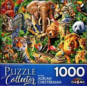 Puzzle Collector 1000 Piece Puzzle - African Wildlife - Adrian Chesterman