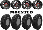 Kit 4 Tensor Dsr35 Tires 35x10-15 On Kmc Ks135 Grenade Black Wheels Can