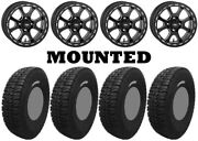 Kit 4 Tensor Dsr35 Tires 35x10-15 On Itp Tsunami Beadlock Matte Black Wheels Pol
