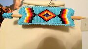 New Native American Beaded Hair Piece/barrette Handcrafted Very Nice