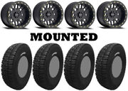 Kit 4 Tensor Dsr33 Tires 33x10-15 On Method 406 Beadlock Matte Black Wheels Ter