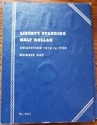 1916-1936 Liberty Standing Half Dollar Collection Book 35 Coins