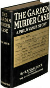 Inscribed S.s.van Dine 1st In Dj The Garden Murder Case