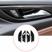 Inner Door Bowl Sticker Cover Trim Abs Black 4pcs Fit For 2017-2020 Buick Regal