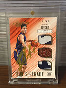 2015 Panini Absolute Devin Booker Rookie Auto Tools Of The Trade Relic Rc Sp /49