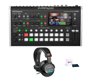 Roland V-8hd Hdmi Video Switcher With Sony Headphones