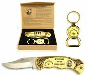 8 Wyatt Earp Collectible Knife Key Ring Wild West Gift Boxed Old West Us Cowboy