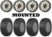 Kit 4 Itp Terra Claw Tires 27x9-14 On System 3 St-3 Bronze Wheels Can