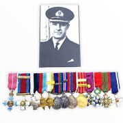 Ww2 Canadian Navy Rcn Miniature Medal Group Vice Admiral H Dewolf