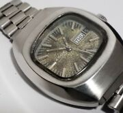 Rare Vintage Edox Stainless Steel Gents Mens Automatic Swiss Watch Wristwatch