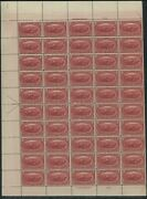 1898 United States Postage Stamp 286 Mint Mnh Plate No. 722 Full Sheet