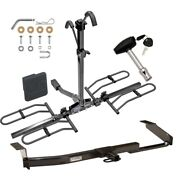 Trailer Tow Hitch For 94-97 Accord Excluding Wagon Platform 2 Bike Rack + Lock
