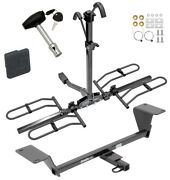 Trailer Tow Hitch For 15-20 A3 Platform Style 2 Bike Rack W/ Hitch Lock And Cover