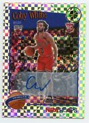 2019-20 Hoops Premium Stock Coby White Tribute Rookie Auto 295 6/10 Rc