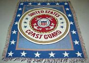 Uscg United States Coast Guard Homeland Security Dept. Tapestry Afghan Throw