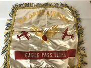 Scarce Vintage 1942-1945 Us Army Air Force Eagle Pass Texas Pillow Case Fringe