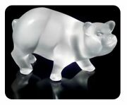 1130 Lalique Crystal Piglet Pot-bellied Pig 6 Swine Piggy Brand New In Box