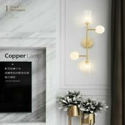 Modern Crystal Candle Holder Glass Lampshade Bulb Brass Surface Wall Lamps