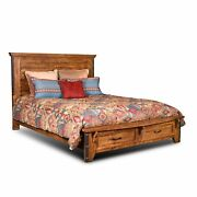 Sunset Trading Rustic City King Bed   Storage Drawers