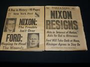 1974 New York Daily News And Post Newspaper Lot Of 2 - Nixon Resigns - Np 4937