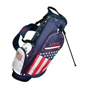 New Hot-z Golf Flag Stand/carry Bag 14-way Top - United States Of America Usa