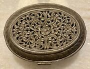 Gorgeous Antique High Quality Sterling Silver 900 Trinket Jewelry Box
