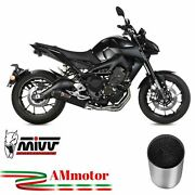 Full Exhaust System Motorcycle Mivv Mt-09 2015 Yamaha Oval Carbon Cap Approved