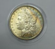 1883-o Morgan Silver Dollar Au Monster Toning With A Rainbow On Obv