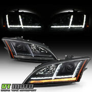 2008-2014 Audi Tt [hid/xenon W/afs] Led Drl Sequential Turn Projector Headlights