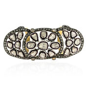 3.56ct Rose Cut Diamond 18k Yellow Gold 925 Sterling Silver Knuckle Ring Jewelry