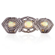 2.7ct Opal Diamond 18k Yellow Gold 925 Sterling Silver Knuckle Ring Gift Jewelry