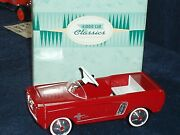Hallmark 1964 1/2ford Mustang Kiddie Car Classics Large Size Pedal Car Replica