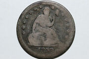 1858-s Liberty Seated 90 Silver Quarter Key Date Grades Very Good Murry104