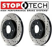 For Lotus Elise Exige Set Of Rear Left And Right Stoptech Drilled Brake Rotors