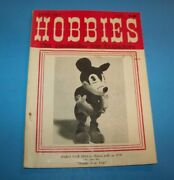Hobbies The Magazine For Collectors 1979 Stuffed Steiff Mickey Mouse Doll