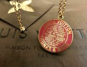 Louis Vuitton Discontinued Rarity Charm Top Pendant Pink Gold Medal From Japan