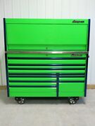 Snap On Extreme Green 68 Epiq Tool Box Toolbox Stainless Steel Top And Hutch