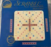 Selchow And Righter Scrabble Crossword Game Deluxe Edition With Turnable Base