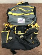 Distressed Gregory Backpack Vintage White Patch Yellow Hiking Medium