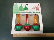 New 1989 Vintage Noma Bubble Light Replacement Bulbs Christmas 3 In Box