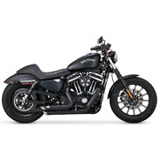 Black Ceramic Shortshots Staggered Exhaust For 2014 Harley Xl Pair
