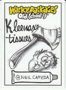 2020 Wacky Packages Old School 9 Sketch Card Kleenaxe Tissue Artist Neil Camera
