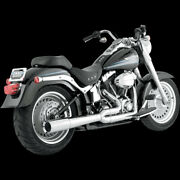 Vance And Hines Pro Pipe Exhaust Chrome For 1986-2011 Harley Softail 17547