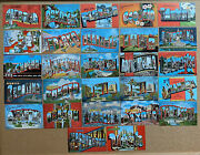 27 Dif. Kropp Large Letter Linen State Postcards - 1940's - Great Lot