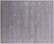 8and039 1 X 10and039 0 Wool And Silk Handmade Rug - Q6210