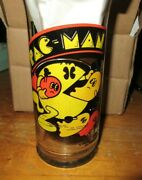 Pac Man Pacman Vintage Drinking Glass Nice Bright Colors 1982