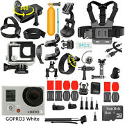 Gopro Hero3 White Edition Action Sport Wi-fi Camera With 40 Pcs Accessory