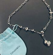 And Co -puffed Heart Necklace- Discontinued- Staple Chain